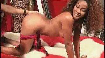 Curly Haired Black Beauty Cock Sucks In A 69 Fashion