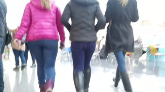 Nice asses in the food court
