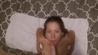Me sucking YOUR cock while upside down until you cum on my face