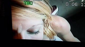 Big tit blonde gets a facial