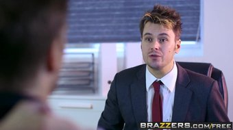 Brazzers - Big Tits at Work - Stacey Saran and Ryan Ryder -