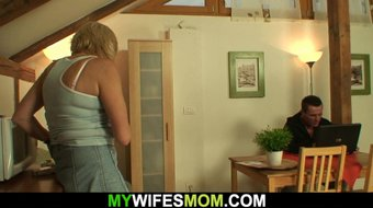 Girlfriends old mom is horny bitch!