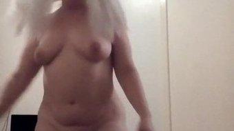 Sexy blonde big tits