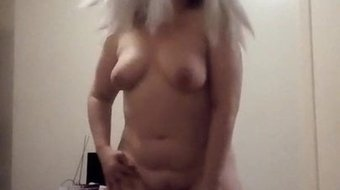 Sexy blonde. Big tits and hairy pussy