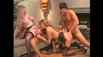 2 hot MILFs Monica Sweetheart and Michelle B let their hubbies fuck them in the ass