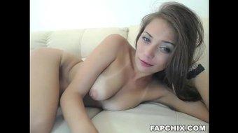 Stunning Brunette Fucking Self