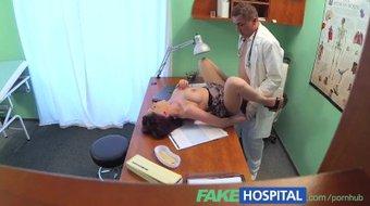 FakeHospital. Busty beauty needs doctor to keep a secret