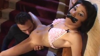 Man does tight pussy of Kitty Jung with his cock