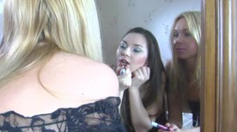 Lesbian sex is different for Lina Napoli and Crystal