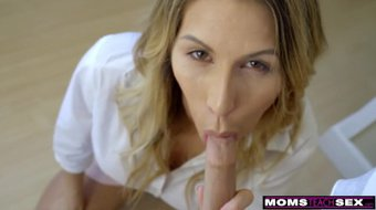 MomsTeachSex - Hot Mom Caught With StepSiblings In Threesome! S8:E6