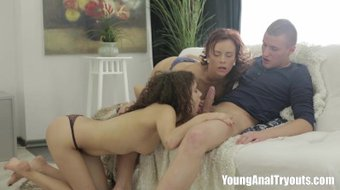 Young Anal Tryouts - Polina and her friend
