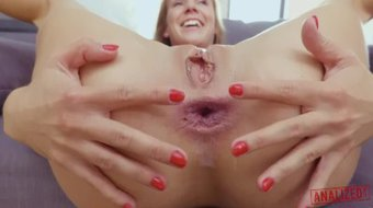 ANALIZED - SKINNY TEEN SLUT ALEXIS CRYSTAL - ANAL FISTED AND FULL NELSON!