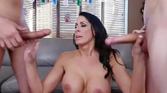 Boys came to visit Reagan Foxx and fucked her