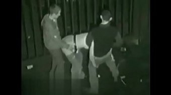 Hooker Being Fucked By Two Guys Outside