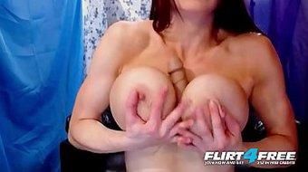 Flirt4Free Hot Cam Models Big Boobs Compilation