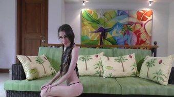 Hot Teen Latina Sparkles