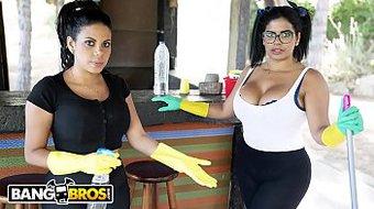 BANGBROS - My Two Dirty Maids Sheila Ortega and Kesha Ortega On My Big Ol' Dick