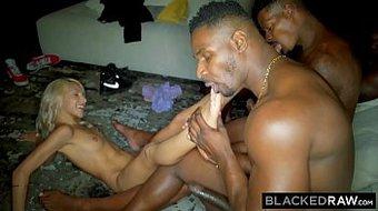 BLACKEDRAW Horny Teen Needs 3 BBCs NOW