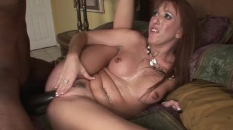 PAWG MILF sucks and rides a huge black cock