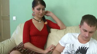 Elena G decided to help him with her pussy