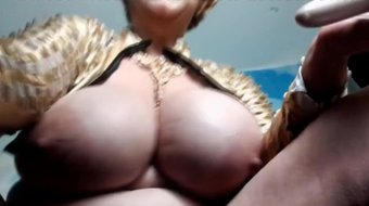 Housewife Samantha with giant boobs squirting like a waterfall