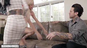 Perv Couple Joanna Angel & Small Hands Fuck the Babysitter!