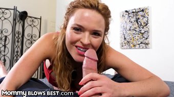 MommyBlowsBest Step Mom Krissy Lynn Catches Son Masturbating 2 Her!