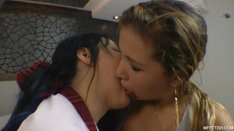 I kissed a Girl! It Was Hot - Two Naughty Slave Girls