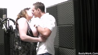 Guy licks and pounds her fat pussy hard