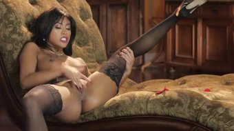 All Natural Asian Hottie Ember Snow In A Hot Masturbation Performance