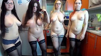 4 Hot and Horny Girls