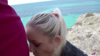 GERMAN SCOUT - Tourist Teen Julia Public Agent Fuck on Malle