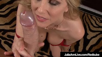 Hot American Milf Julia Ann Sucks A Hard Cock POV!