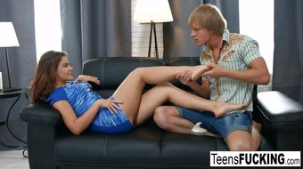 Teen cutie Emma Brown wants her pussy filled with jizz