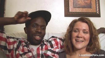 Black dude and his beauty are having fun