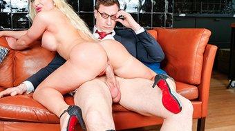 LETSDOEIT - Hot Secretary With Huge Boobs Fucks In The Back Office