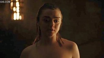 Maisie Williams/Arya Stark Hot Scene-Game Of Thrones
