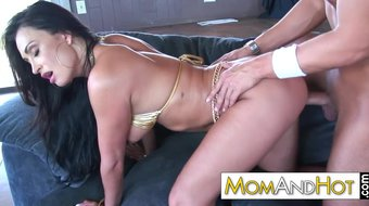 MILF MOM Claudia Valentine doggystyle