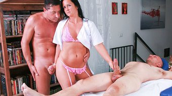 LETSDOEIT - Italian Milf Masseuse DPed At Casting
