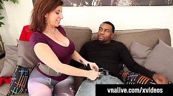 VNALive - Curvy Sara Jay & Virgo Peridot Bang BBC Rome Major