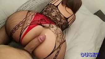 Beautiful woman with big ass is fucked on all fours