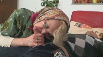 lonely 60 years old blonde gets doggy-fucked by pervert
