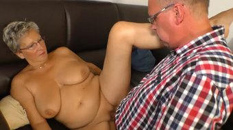 AmateurEuro - Kinky Sex On The Couch With Mature German Couple