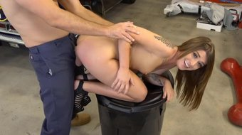 Roadside - Riley Shea Pays The Mechanic With Her Pussy