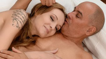 Young teen relaxes with experienced lover