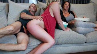 FamilyStrokes - Sexy Teen Fucks Her Stepdad In Front Of Mom
