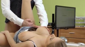 LOAN4K. Big-tittied chick knows how to earn good money quickly