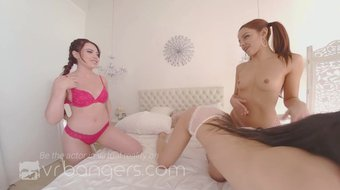 VRBangers Slumber Party With Two Hot Lesbians