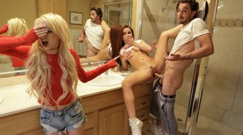 bratty sis - caught her girl crush fucking her step-brother s10:e5