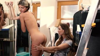 LETSDOEIT - Mommy And Daughter Share Intense Orgasms In The Changing Room